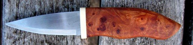 Jagtkniv i elm